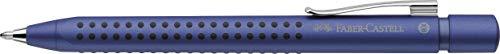 Faber-Castell 144153 - Kugelschreiber GRIP 2011, Mine XB, blau-metallic