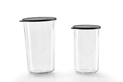 Bamix Trinkbecher aus Tritan, 400 und 600 ml, transparent, 2 Stück