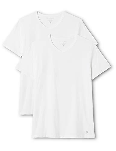 Marc O'Polo Body & Beach Herren V-Ausschnitt Shirts Doppelpack, Weiß (weiss 100), XX-Large (2er Pack)