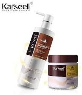 Hanvi Shampoo & Hair Mask Keratin Straightening 500ml*2 Hair Treatment Argan Oil Nut Hair Care Sets Soft Conditioner Repair Hair Scalp