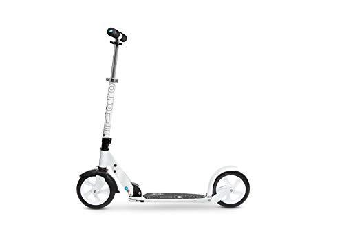 Micro® Black / White, Scooter Urbano, Plegable, 2 Ruedas PU 200mm, Peso...