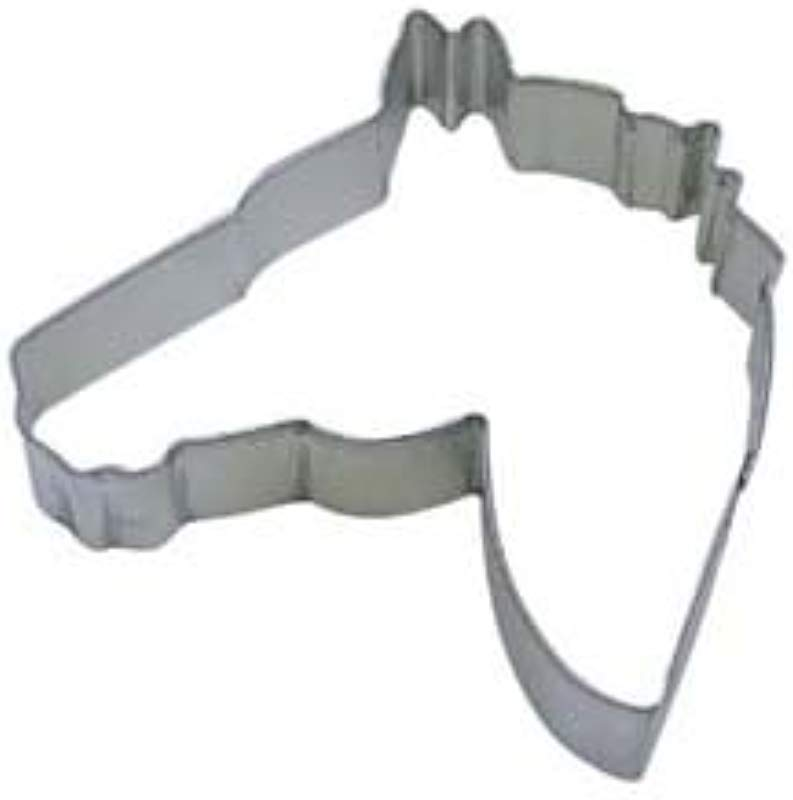 R M Cookie Cutter 4 5 Inch Horse Head Tinplated Steel