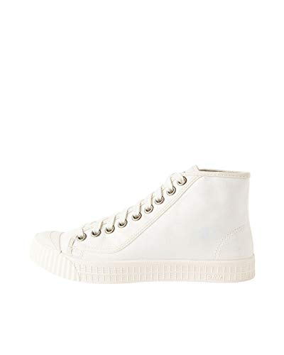 G-STAR RAW Rovulc Denim Mid Sneakers, Zapatillas Mujer, Blanco (White (White 110) 110), 38 EU