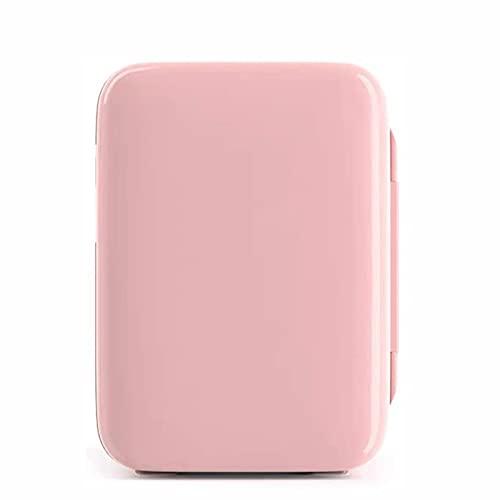 Mini Frigorífico 10L Portátil Portátil COMPACT PERSONAL FRIFRIFERADOR FRIFRIERNA DE FRIFRÍDER Y CALENTE MINI FREEXER AC / DC Power, Ideal para autos domésticos Oficinas Dorms ( Color : Pink )