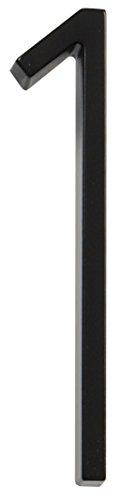 Numéro 0 - Noir - Plaque pour maison - 12,7 cm - Par Distinctions by Hillman - 843190, 843191