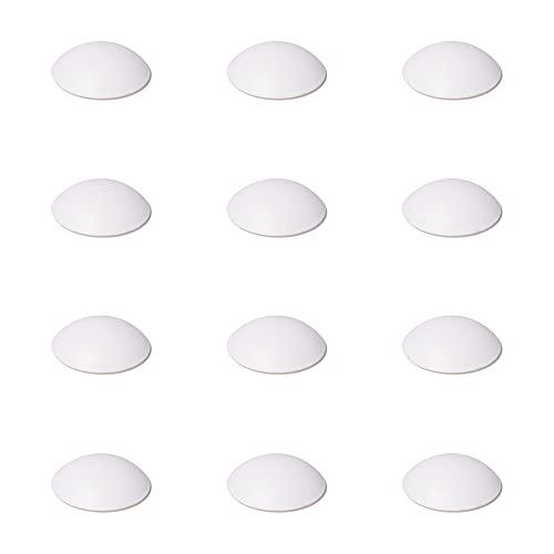 12 x sossai® amortisseurs de porte/tampon mural/butée de porte auto-adhésives | TP40 | Ø : 40 mm | Couleur : Blanc