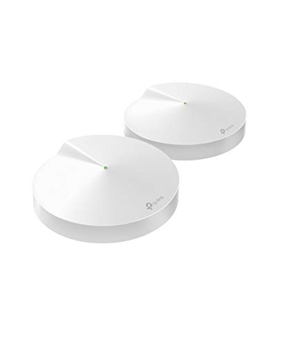 Oferta de TP-LINK AC2200 Deco M9 Plus (2-Pack) - Amplificador WiFi Super Mesh inteligente sin interrupciones, Tri-band hasta 420² Hub Smart IoT, Zigbee, 2 GB, MU-MIMO