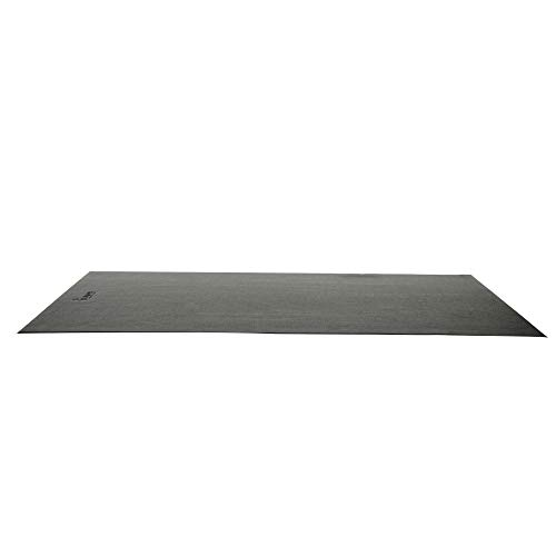 Sunny Health & Fitness NO. 074-M Treadmill Mat Medium, 6.5 ft x 3 ft, Black