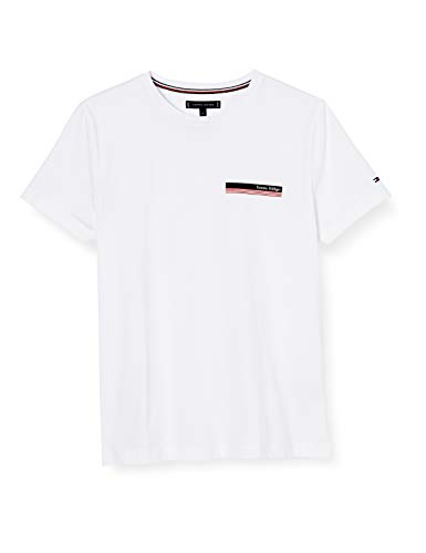 Tommy Hilfiger Herren Th Cool Small Corp Chest Tee Hemd, Weiß, XXX-Large