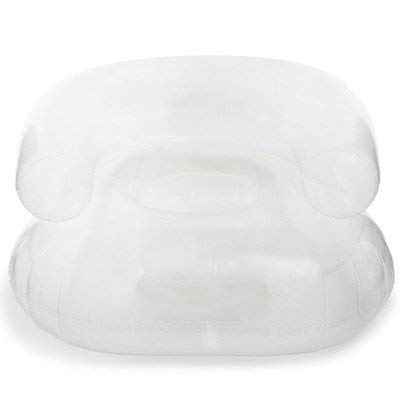 Clear Blow up Light Weight Inflatable Portable Chair for Home, Kids Room, Pool, Patio, Deck, Chair, College Dorm, Camper, Camping, RV, Birthday Gift 31in x 30.25in x 18.5in by All Parts Etc