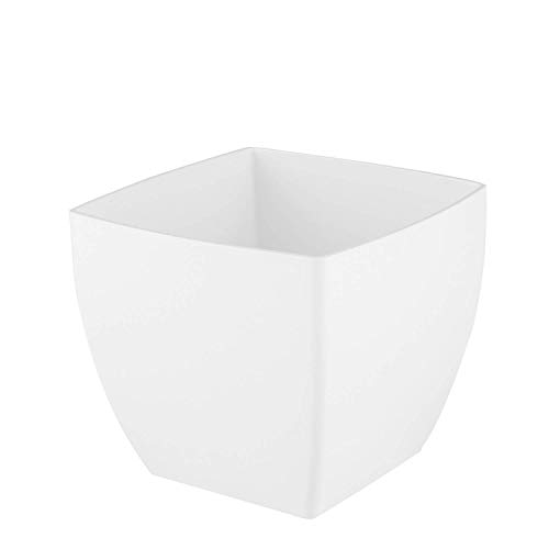 Vasart Siena Cachepot , Branco, 20x18cm