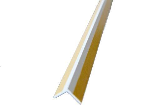 Kunststoff Winkelprofil selbstklebend Innenecke Abschlussprofil Kantenschutzprofil weiß (200cm)