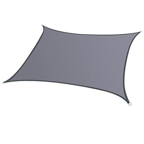 HHORB Toldo Vela De Sombra Rectangular 2.5 X 2.5 Metros Protección Rayos UV, Resistente Y Transpirable para Patio Exteriores Jardín, Color Grafito,Gris,4 * 4m