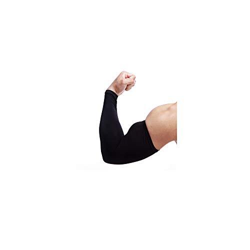 Celucke Arm Sleeves Ärmlinge Armwärmer Armstulpen Kompression Bandage rutschfest UV-Schutz Atmungsaktives Volleyball Radsport Sport Golf Basketball für Damen Herren 1 Paar M-XL