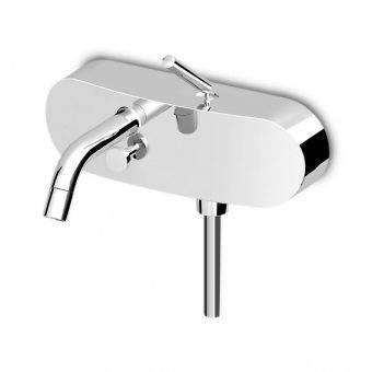 Zucchetti Isystick - Grifo mezclador monomando para bañera-ducha exterior con desviador ZP1148 italiano de latón para casa y baño, cocina