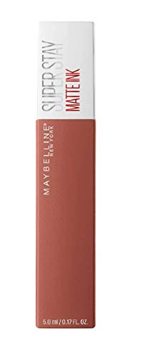 Maybelline New York SuperStay Matte Ink, Pintalabios Mate de Larga Duración, Tono 70 - Amazonian, Marrón Claro Nude