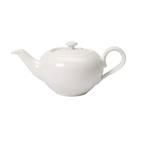 Villeroy & Boch Royal theepot voor één persoon, 400 ml, premium bone porselein, wit