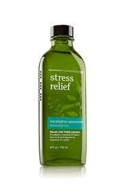 Bath & Body Works Aromatherapy Stress Relief Eucalyptus Spearmint Massage Oil 4oz 118ml