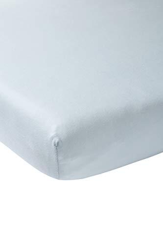 Meyco 566003 Jersey Spannbettlaken für Laufgittermatratze SpieldeckeBoxmatratze 100% Baumwolle 75x95cm Hellblau