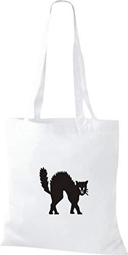 Shirtinstyle Stoffbeutel Katze Motive Rasse Katze Lustige Tiere Züchter Cat Diverse Farbe White