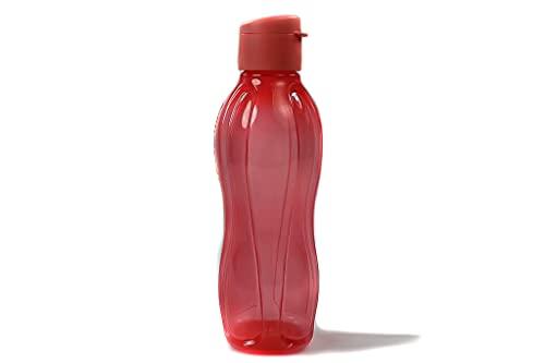 TUPPERWARE To Go Eco 750ml botella para beber rojo brillante con cierre de clip