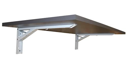 Wandklapptisch Klapptisch Wand Esstisch Schreibtisch Büro Homeoffice Tischplatte Weiß Anthrazit oder Sonoma Eiche (Tischplatte Anthrazit)