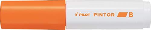 Pilot Pintor Brede Lijn Beitel Punt Marker 8mm Tip- Oranje (Pak van 6)