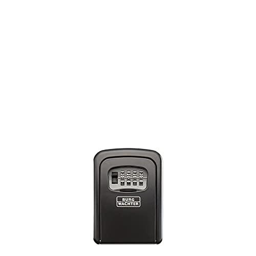 Burg-Wächter Schlüsseltresor mit 4-stelligem Zahelncode für außen und innen, Sicher, Wandmontage, Key Safe 30 SB, Schwarz