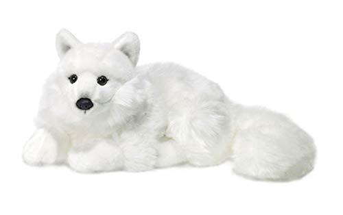 WWF WWF16981 Plüsch Polarfuchs liegend, realistisch gestaltetes Plüschtier, ca. 25 cm groß und wunderbar weich