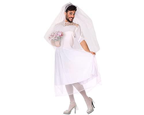 ATOSA disfraz novia hombre adulto XL