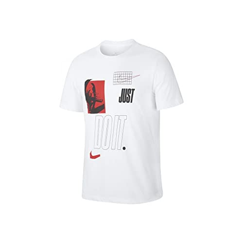 NIKE M Nk Dfc tee JDI Plate Wash Short Sleeve T-Shirt, Hombre, White