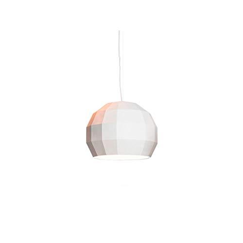 Lámpara Colgante G9 LED 33W con el Exterior en cerámica e Interior en Esmalte, Modelo Scotch Club 17, Color Blanco, 17,4 x 17,4 x 14,3 centímetros (Referencia: A656-130)