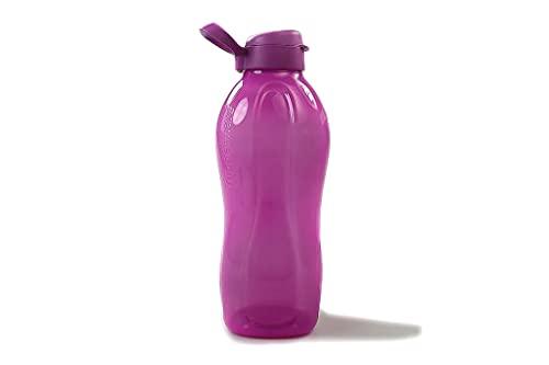 Tupperware to Go Eco - Botella con cierre de clip (2 L), color morado