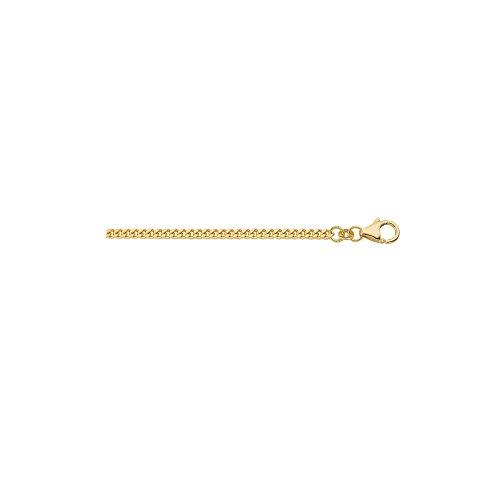 Gold Halskette Collier 14 k 585 Gelbgold Flach Panzerkette 60 cm