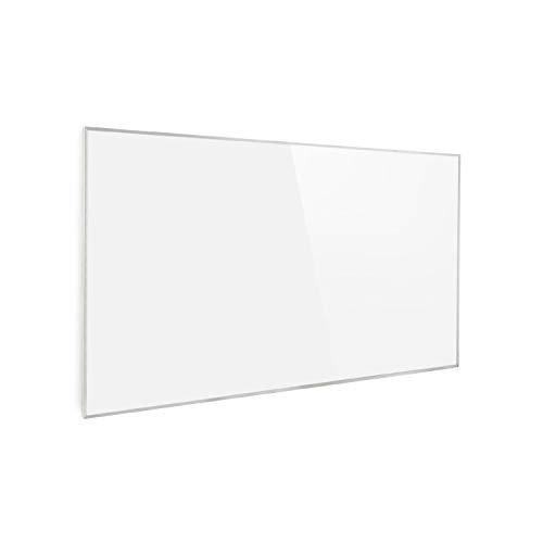 KLARSTEIN Wonderwall Air - Pannello di Riscaldamento, Infrarossi, Carbon Crystal Infrared, IRComfortHeat, Rilevatore Finestre Aperte, Antiallergico, Termostato, Bianco, 600W, 101x60 cm