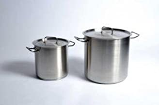 United Scientific Utility Tanks With Lid (Stock Pot), Stainless Steel 11 L