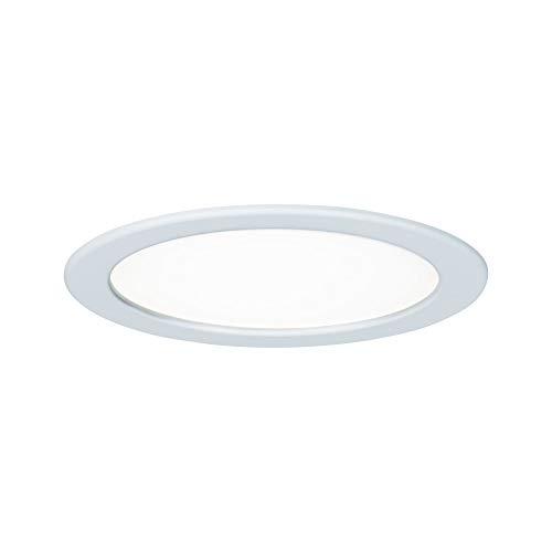 Paulmann Leuchten Paulmann 92060 Einbaupanel rund Deckenleuchte 18W Licht 4000K Neutralweiß LED Panel Weiß IP44 spritzwassergeschützt inklusive Leuchtmittel Einbauleuchte, Kunststoff, 18 W