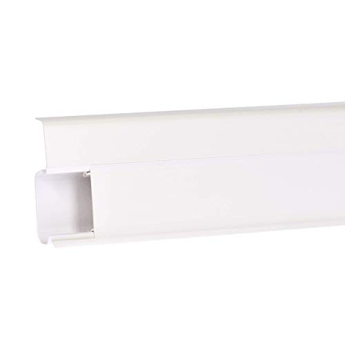 Quadro 2,5m Sockelleiste 55mm PVC Leiste Farbe: Weiß Laminat Fussleisten mit Dübel