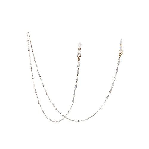 Cordón para gafas, cadena de moda, cristal y perlas, soporte para cadena de metal, diseño de Sunglasses