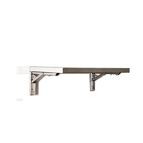 GHHZZQ Escritorio de Mesa Plegable Acero Inoxidable Mesa Plegable Pequeña por Uso de Oficina En Casa, Fácil de Instalar y Limpiar (Color : Silver, Size : 60x40cm)