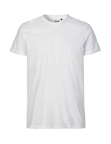 -Neutral- T-Shirt, 100% Bio-Baumwolle. Fairtrade, Oeko-Tex und Ecolabel Zertifiziert, Textilfarbe: weiß, Gr.: M