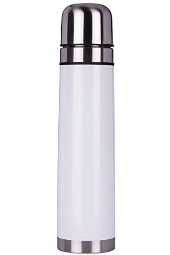 Smile thermosfles van roestvrij staal, 1 l met 2 kopjes voor koffie of koude thee tot 12 uur SST-6-1