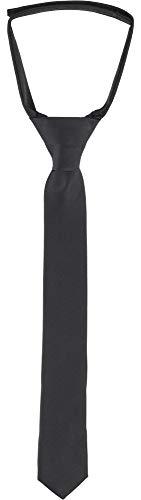 Ladeheid Kinder Jungen Krawatte KJ (31cm x 4cm, Schwarz)