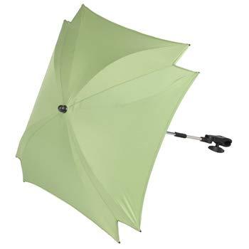 ZOPA universele vierkante parasol parasol parasol scherm voor kinderwagen buggy stroller - UV-bescherming 50+, gemiddeld 56 cm groen