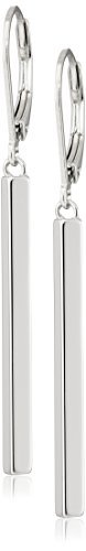 Sterling Silver Vertical Bar Dangle Earrings