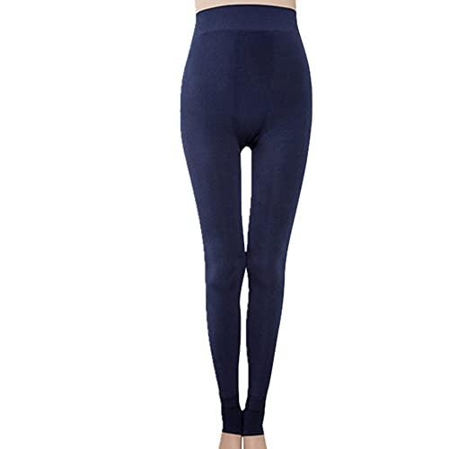 N\P Leggings para mujeres de talla grande color puro ejercicio elasticidad fitness pantalones mujer