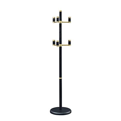 LZL Vintage Wood Coat Rack Freestanding Stand Soporte Abrigo Ajustable fácil de Montar Perspago de Chaquetas de Capa de pie (Color : Black)