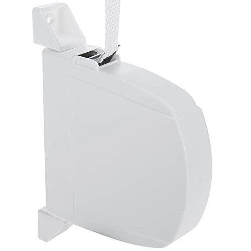 Recogedor para persiana. Modelo Exterior abatible en PVC/plástico. Color Blanco con Cinta (18mm) incluida.
