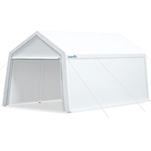 Quictent 10'x20' Carport Heavy Duty Car Canopy Garage Gazebo Car Shelter White…
