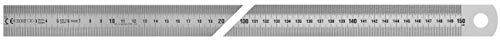 Vogel Germany Stahlmaßband (Länge 1500 mm, rostfreier Federbandstahl, blendfreie Oberfläche, geätzte Teilung mit deutlicher Ablesung) 1018020150
